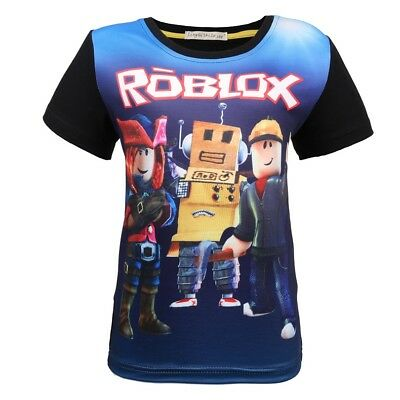 Roblox Characters Kids Online Cartoon Boys Girls Birthday Gift Top T-shirt