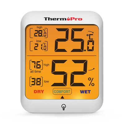 ThermoPro Digital LCD Indoor Thermometer Hygrometer Humidity Temperature Monitor