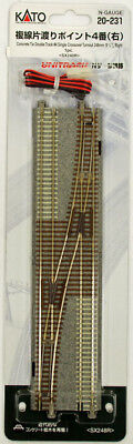Kato 20-231 UNITRACK #4 Single Crossover Turnout 248mm (9 3/4') Right (N scale)
