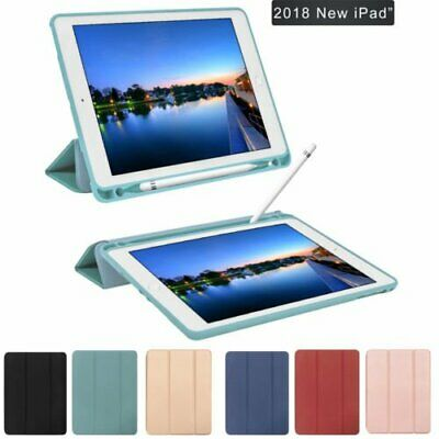 "Slim Smart Case Cover For iPad Pro 9.7"" 5th 2017 / 6th 2018 With Pencil Holder"