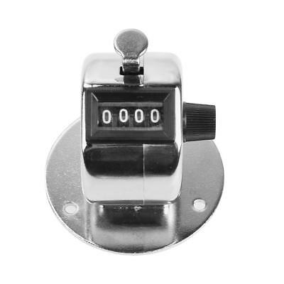 Tally Counter Hand Held Clicker 4 Digit Chrome Palm Golf People Counting Club UK