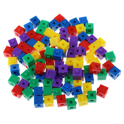 Multi-color Stacking Cube Building Kit Pop Linking Cubes for Kids Children
