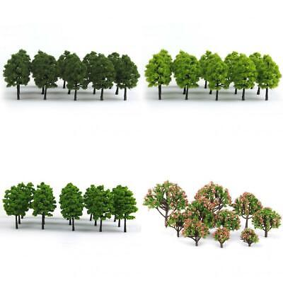 70Pc Model Trees Layout Train Railway Diorama Landscape Scenery Building Toy