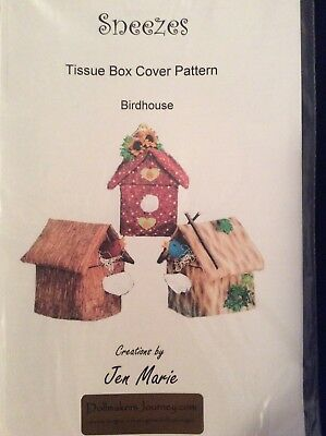Tissue Box Sewing Pattern - Birdhouses