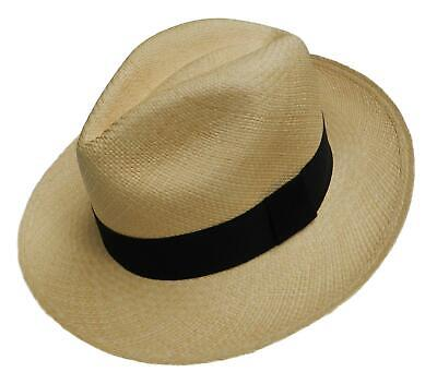 New Genuine Panama Hat Rolling Ecuador Equal Earth Fair Trade Quality - Natural