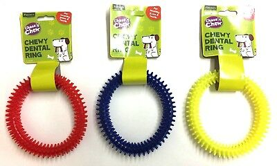 Dog Toy Dental Teething Ring Healthy Teeth Gums Fetch Plastic Pet Chew
