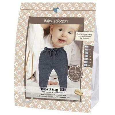 Go Handmade Knitting Crochet Kit Baby Trousers - Dark Grey