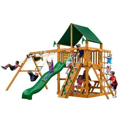 New Gorilla Playsets Navigator With Amber Posts And Sunbrella Canopy