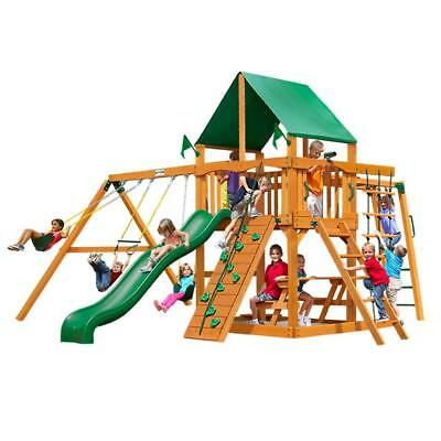 NEW Gorilla Playsets Navigator with Amber Posts and Deluxe Canopy Swing Set