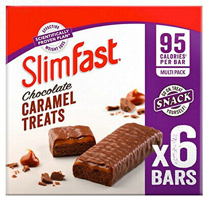 SlimFast Caramel Snack Bar Multipack 6 Chewy Chocolate