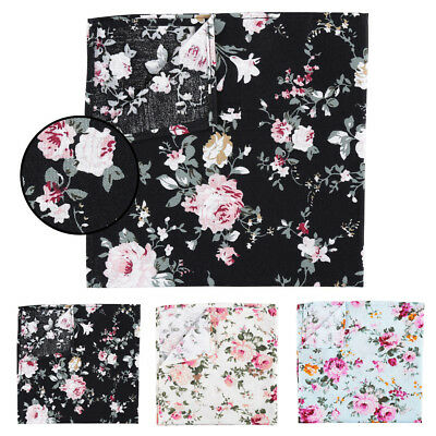 JA Premium Floral Primrose Cotton Casual Men's Hanky Handkerchief Pocket Square