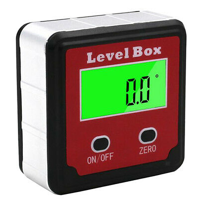Digital Protractor Inclinometer Magnetic Angle Bevel Box Angle Level Gauge