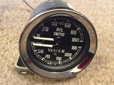 NEW SMITHS CLASSIC DUAL TEMP AND OIL PRESSURE Gauge oC Temp CLASSIC MINI COOPER