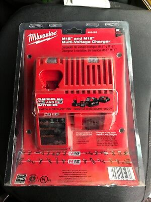 Milwaukee 48-59-1812 M12 12V Multi Voltage Lithium Ion Battery Charger NEW 👍