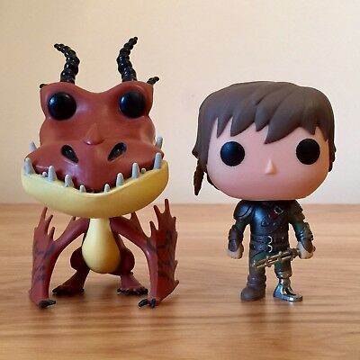 Funko Pop Vinyl Movies How To Train Your Dragon 2 Hiccup 95 & Hookfang 98 Figure