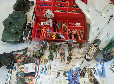 MEGA LOT VINTAGE 1982-90 GI JOE-ROTICA  FIGURES VEHICLES and Weapons Nice**