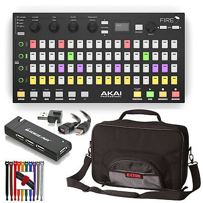 Akai Professional Fire FL Studio Controller + Gator Bag + 4 Port USB Hub & More