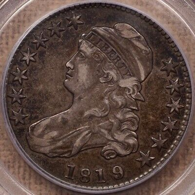 1819/8 O.103a R4 Large 9 Capped Bust half, PCGS XF45, nice    DavidKahnRareCoins