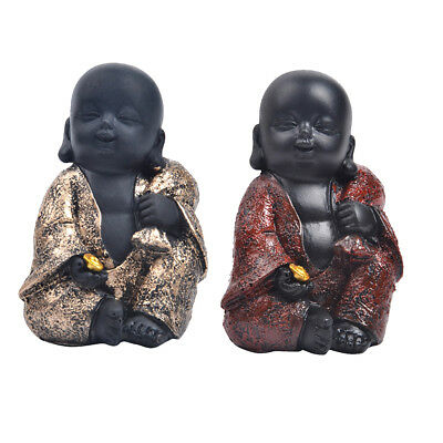 Happy Buddha Figure Ornament Chinese Laughing Sitting Hand Carved Statue