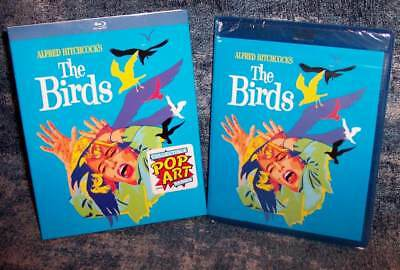 New Rare Oop Alfred Hitchcock The Birds Blu Ray Movie Pop Art Slipcover 1963
