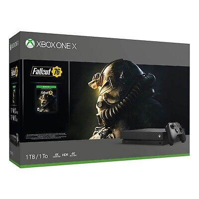 Xbox One X 1TB Fallout 76 Console Bundle - Xbox One X Edition, Brand New