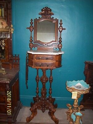 Victorian Gentlemans Shaving Stand w/ Mirror