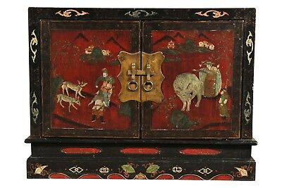 Vintage Chinese Painted Chest 62164