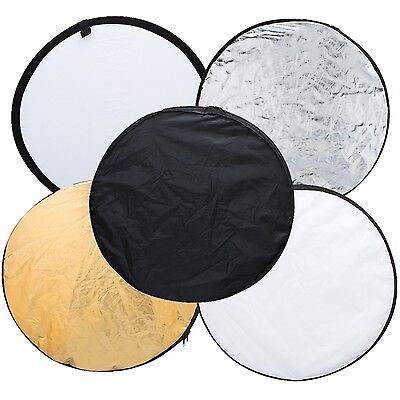 """32"""" 80cm 5in1 Portable Collapsible Light Round Photography/Photo Reflector Photo"""