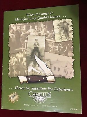 1996 CAMILLUS CUTLERY CATALOG #5 featuring 23 color pages of knives
