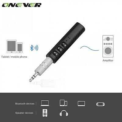 Universal 3.5mm jack Bluetooth Car Kit Hands Free Music Audio Receiver Adapter