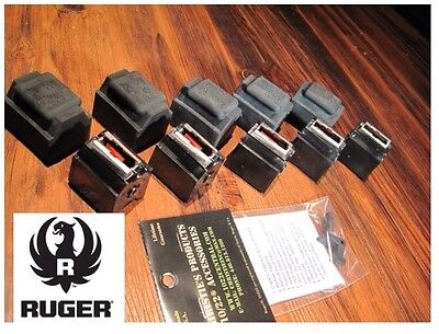 5 Pack Fits Ruger 10/22 Magazines 22 LR BX-1 10 RD Clips 90451 W/ CAPS & Goodie