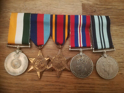 Mounted WW2 group of 5 Indian Medals for the Burma Campaign.