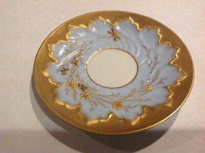 Stunning VINTAGE hand painted gold and blue DEPOSE PLATE France