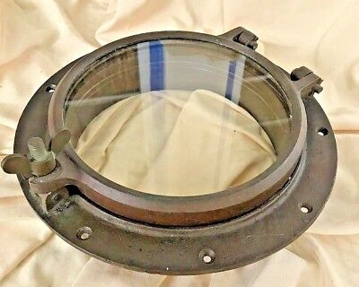 Antique Wilcox Crittenden WC #8  Boat Porthole  Window Bronze All Original