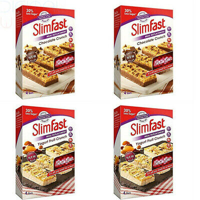 Slimfast Meal Replacement Variety Bars Yoghurt fruit & Chocolate 4 Boxes 2 Each