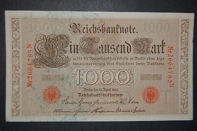 GERMANY Pair Of Old Notes. 1000 MARK 1910 & 5 Mark 1917 Unc. BIG SALE > LOOK!