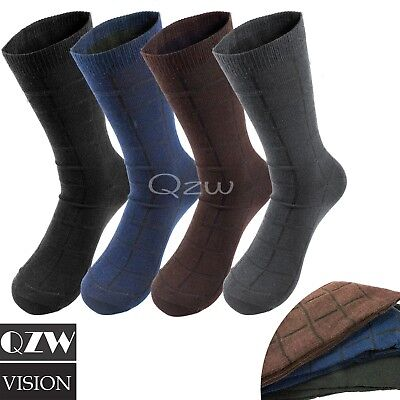 3 ~12 Pairs Lot Men's Solid Assorted Print Design Cotton Dress Dressing Socks