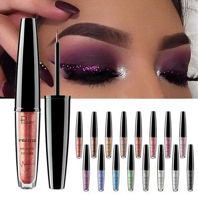 Waterproof Sparkling Glitter Liquid Eyeliner Metal Shimmer Eyeshadow Cosmetic AU