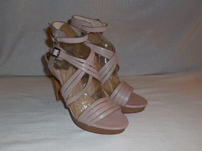 4ae21fdbe25 VINCE CAMUTO ESTERA Leather Calf Hair Leopard Print Open Toe Wedges ...