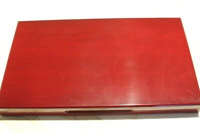Cherry Tone 56 Coin Display Box for quarters or small dollars