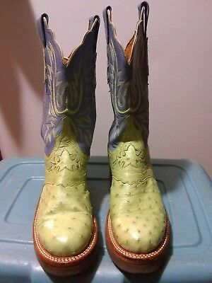 6a32d28ed6c 7 B LUCCHESE 2000 Full Quill Ostrich Mauve Crepe Sole - $109.99 ...