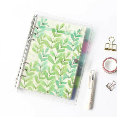 6Pcs/set Index dividers binder spiral PP notebook diary accessory notepads AU