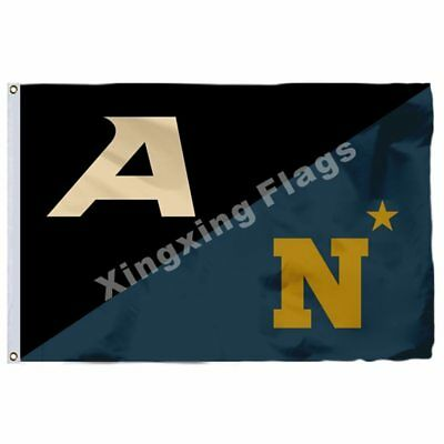 Army Black Knights Nation And Navy Flag 3Ft X 5Ft Polyester Banner Flying