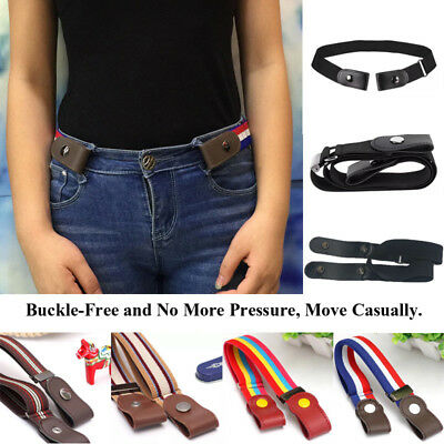 UK Buckle-Free Elastic Belts Women's Invisible Belt for Jeans No Bulge Hassle