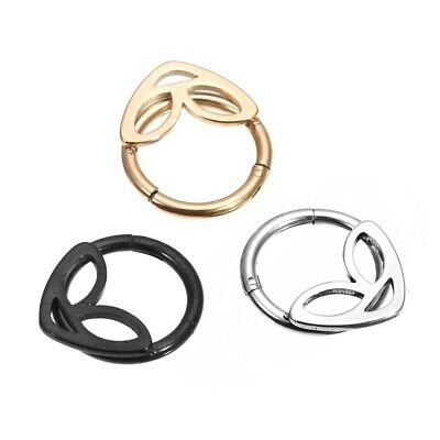Alien Steel Hinged Segment Ring Hoop Nose/Lip/Ear/Septum Piercing