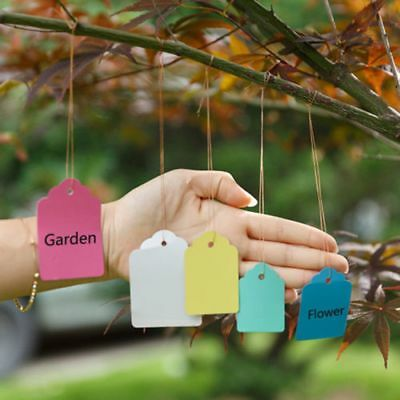 Plant Hanging Tags Mark Waterproof 100pcs Strip Line Gardening Labels Signs