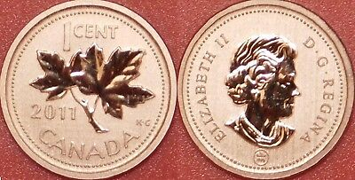 Specimen 2011 Canada 1 Cent From Mint's Set