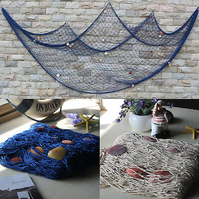 UK Nautical Fishing Net Seaside Wall Beach Party Sea Shells Home Garden Decor