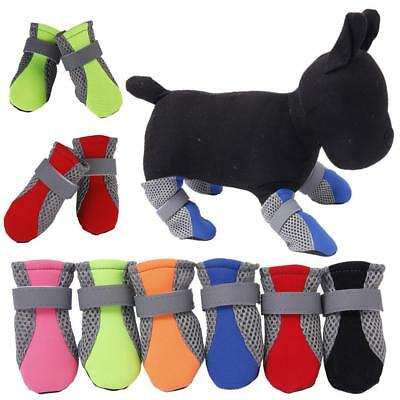 4pcs Pet Dog Puppy Boots Booties Waterproof Anti-slip Protective Rain Shoes