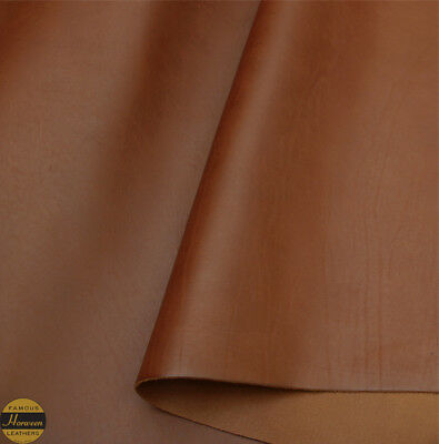 Horween Essex Veg Tan Leather Cognac Panels 2.0-2.2 mm Thick Supple Full Grain